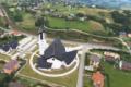 Kościół wPtaszkowej zlotu drona
